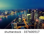 shanghai night view  china | Shutterstock . vector #337600517