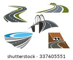 road bridge  winding highways... | Shutterstock .eps vector #337605551
