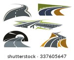 modern freeway icons with... | Shutterstock .eps vector #337605647