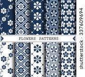 flower vector pattern  pattern... | Shutterstock .eps vector #337609694