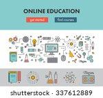 line design concept web banner... | Shutterstock .eps vector #337612889