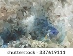 abstrect vector polygonal... | Shutterstock .eps vector #337619111