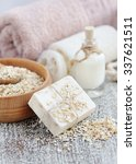 soap oatmeal handmade for a... | Shutterstock . vector #337621511