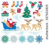set of christmas vector...   Shutterstock .eps vector #337631825