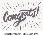 congrats  congratulations card. | Shutterstock .eps vector #337635191