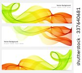 abstract template horizontal... | Shutterstock .eps vector #337640681