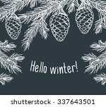 Hello Winter. Background With...