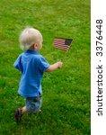 toddler running around waving... | Shutterstock . vector #3376448