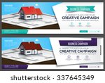 house web banner  header layout ... | Shutterstock .eps vector #337645349