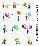 set of young businessmen with... | Shutterstock .eps vector #337651865