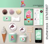 vector ice cream corporate... | Shutterstock .eps vector #337655807