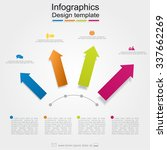 infographic report template... | Shutterstock .eps vector #337662269