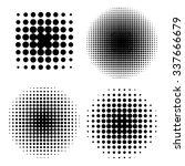 halftones template  black and... | Shutterstock .eps vector #337666679