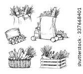 hand drawn vector illustrations ... | Shutterstock .eps vector #337668401