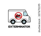 exterminator van icon logo... | Shutterstock .eps vector #337670195