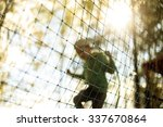 Practice Nets Playground. Boy...