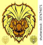 lion. lion head illustration. t ... | Shutterstock .eps vector #337674071