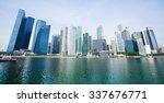 marina bay skyscrapers in... | Shutterstock . vector #337676771