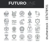 modern thin line icons set of... | Shutterstock .eps vector #337678931