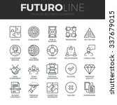 Modern thin line icons set of doing business elements, solution for clients. Premium quality outline symbol collection. Simple mono linear pictogram pack. Stroke vector logo concept for web graphics. | Shutterstock vector #337679015
