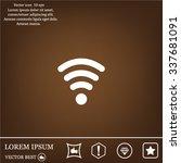 wi fi  web icon. vector design | Shutterstock .eps vector #337681091