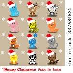set vector twelve icons funny... | Shutterstock .eps vector #337684835