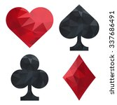 card suits set  spades  clubs ... | Shutterstock .eps vector #337686491