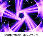 blue abstract fractal with ... | Shutterstock . vector #337695371