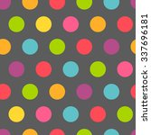 Colorful Polka Dot Seamless...