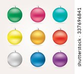 Christmas Balls In Various...