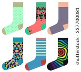 design socks set  colorful... | Shutterstock .eps vector #337700081