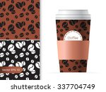 coffee cup template... | Shutterstock .eps vector #337704749