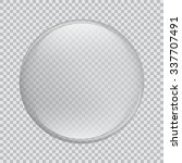 vector large round clear glass... | Shutterstock .eps vector #337707491