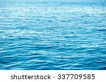 blue sea water. ocean surface... | Shutterstock . vector #337709585