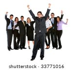 excited business man leading a... | Shutterstock . vector #33771016