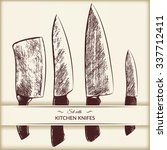 set with kitchen knifes. vector ...   Shutterstock .eps vector #337712411
