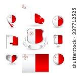 malta flag collection. vector...   Shutterstock .eps vector #337712525