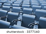 Chairs in Modern Congress hall - stock photo