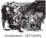 an hand drawn vector... | Shutterstock .eps vector #337725491