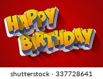 happy birthday greeting card on ... | Shutterstock .eps vector #337728641