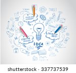 idea concept with light bulb... | Shutterstock . vector #337737539