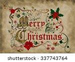medieval illuminated manuscript ... | Shutterstock . vector #337743764