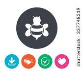 bee sign icon. honeybee or apis ...   Shutterstock .eps vector #337748219