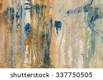 mixed media abstract texture... | Shutterstock . vector #337750505