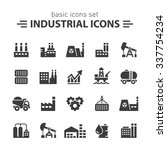 industrial icons. | Shutterstock .eps vector #337754234