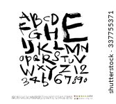 alphabet and numbers   hand... | Shutterstock .eps vector #337755371