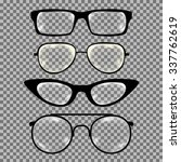 set of custom glasses isolated. ... | Shutterstock .eps vector #337762619