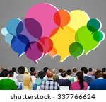 speech bubbles message concept... | Shutterstock . vector #337766624