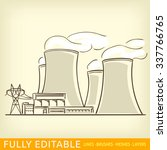 nuclear power plant | Shutterstock .eps vector #337766765