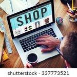 shop shopping buying paying... | Shutterstock . vector #337773521